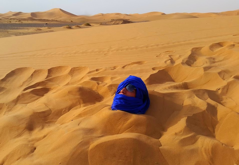 sand bath desert spa merzouga, erg chebbi dunes, dunes luxury camp book it